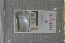Martha Stewart - Whim On The Dot Twin XL Comforter Set Grey NIP