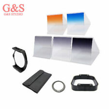 6 filter kit Gradual ND2 ND4 ND8 Orange Blue/ 77mm ring adapter f Cokin p series