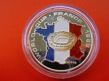 *Selten! LAOS 50 Kip  Silber PP - Farbe-1996 * Fußball WM 1998