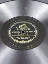 "VICTOR 20-1569 Perry Como I LOVE YOU/LONG AGO 78 10"" E"