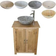 Small Bathroom Cabinet | Solid Oak Bathroom Furniture | Stone Basin Choice
