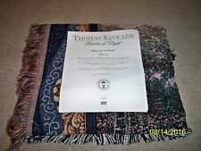 "BRAND NEW! THOMAS KINKADE PAINTER OF LIGHT ""BEACON OF HOPE"" 50"" x 60"" THROW!"