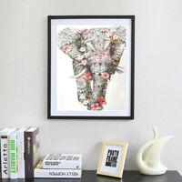 Full drill 5D DIY Diamond Painting Colorful Elephant Embroidery Cross Stitch DP
