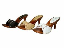 Blossom vote-18 one band slide mules 3.5 inch stiletto high heel sandals shoes