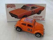 Hot Wheels Custom Dukes of Hazzard General Lee VW Bug with Basic Wheels