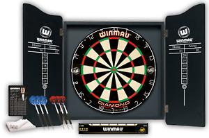 Winmau Professional Dart Set - Diamond Plus Dartboard - Cabinet - 2 x Darts