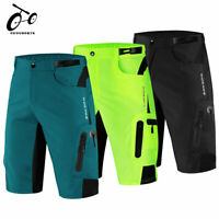 Baggy Cycling Shorts Loose Gel Padded 1/2 Pants MTB Mountain Bike Bicycle Shorts