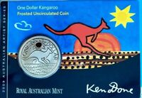 2009 $1 CuNi KANGAROO FROSTED UNCIRCULATED - ARTIST SERIES  REG DONE