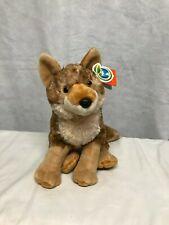 "Wild Republic Coyote 12"" Tall Sitting Plush Toy Soft Adorable EUC"