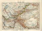 1890 RUSSIA CENTRAL ASIA TIBET UZBEKISTAN TURKMENISTAN AFGHANISTAN Map dated