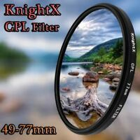 KnightX 49mm 52mm 55mm 58mm 67mm 77mm cpl Filter for Canon Nikon D5300 D5500 DSL
