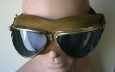 Scarce 1930s MK1 Style Aviator's Goggles with Blue Lenses
