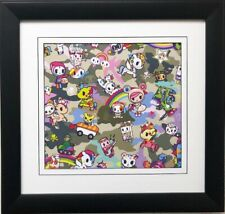 "Tokidoki ""Paint a Rainbow"" FRAMED ART Simone Legno Japanese Inspired NEW"