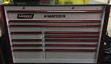 Matco 6S Double Bay Tool Box White/Red