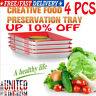 4PCS Creative Healthy Food Preservation Tray Kitchen Storage Container Set UK!!
