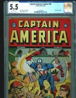 Captain America Comics 30 CGC 5.5 Classic Bucky Bondage Cover Rare Timely 1943