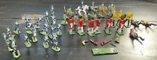 Lead/Metal Hand-Painted Soldiers, Lot of 38, 18th-19th Century European Infantry
