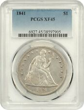 1841 $1 PCGS XF45 - Low Mintage Date - Liberty Seated Dollar - Low Mintage Date