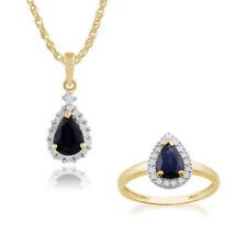 Parure con diamanti e gemme blu oro giallo