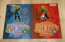 2001 The Legend of Zelda Oracle of Ages Seasons Poster 30x42cm Game Boy Color