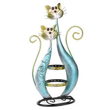 Jewelry Display Blue Twin Cat Stand, Earring Necklace Holder Organizer Hanging