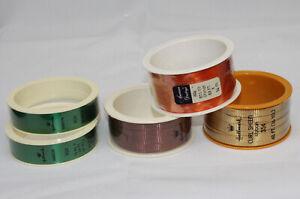 5 Vtg Hallmark Ribbon Curl Sheen & Satin Sheen Self Sticking Lot American Greet
