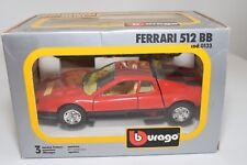 V 1:24 BBURAGO BURAGO 0133 133 FERRARI 512BB 512 BB RED MINT BOXED