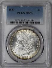 "1887 Morgan Silver Dollar PCGS MS65 ""Reverse Toner"""