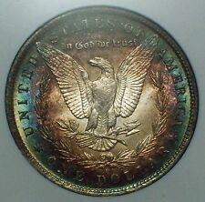1885 O Ms 64 Ngc *Silver* Morgan Dollar *Exquisite Rainbow Full Perimeter* 64 $1