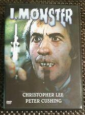 """I, MONSTER (1971; Christopher Lee as """"Jekyll/Hyde"""") [OOP Region Free DVD] •LN•"""