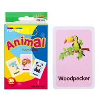 36 Pieces Preschool Educational Flash Cards for Kids Animals
