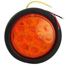 HQRP Luz de posición / de advertencia amarilla de 12 LED para camión de remolque