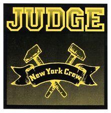 JUDGE new york crew STICKER (yellow) window bumper punk hardcore what it meant