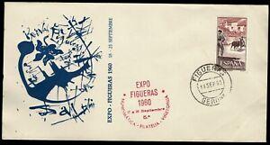 Sobre Gerona Expo Figueras 5ª Exposición  matasello 1960 18 al 25 de septiembre