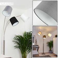 Stand Boden Steh Lampen Wohn Schlaf Zimmer Raum Leuchten Stoff Grau/weiß/schwarz