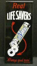 "Dollhouse Miniatures Metal Sign Advertising Real Life Savers Mint 1 1/2"" x 3"""
