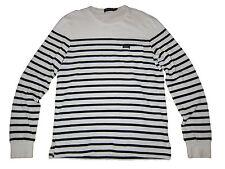 Polo Ralph Lauren White Black St Barth Terry Cloth Yacht Beach Sweater XXL 2XL