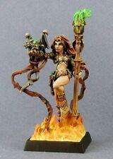 Fire Sorceress Reaper Miniatures Dark Heaven Legends RPG Mage Wizard Caster
