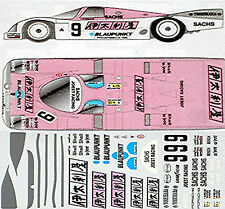 Porsche 962 Italyâ Joest #9 Le Mans 1:24 Autocollant Décalcomanie