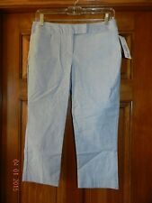 ATTENTION Slim Fit STRETCH Blue Flat Front Casual Chino Capri Pants NWT size 2