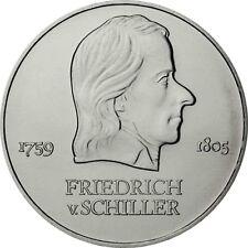 DDR 20 Mark 1972 bfr. Friedrich von Schiller in Münzkapsel