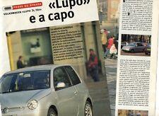 SP79 Clipping-Ritaglio 2000 Volkswagen Lupo 3L TDI Lupo e a capo