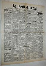 FAC-SIMILE A LA UNE LE PETIT JOURNAL 09/04 1904 L'ENTENTE CORDIALE FRANCE-GB