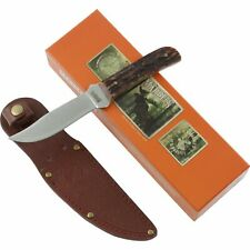 Marbles Stag Bone Handle Outers Fixed Blade Knife MR403 Leather Sheath