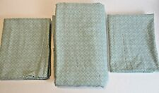 Mainstays Turquoise & Gray Twin SZ Flat Sheet and 2 Standard Pillow Cases CL-SAC