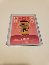 Animal Crossing Amiibo Card Zucker # 364 Series 3 MINT NEVER SCANNED