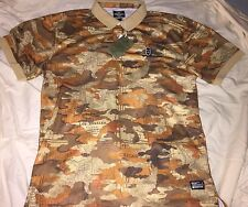 CROOKS & CASTLES MENS REGIMENT KNIT POLO RUGBY SHIRT SNOWBOARD SKI JERSEY SIZE L