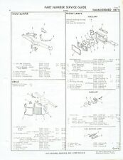 1972 Ford Thunderbird Factory OEM Part Number List gtc