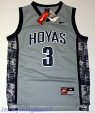 NCAA Throwback Basketball Jersey ALLEN IVERSON 3 Georgetown Hoyas Gray Men NWT