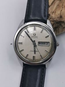 Men's Vintage Omega SEAMASTER Ref.166.032 Or Linen Dial C.752 SS Automatic 1968